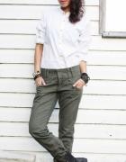 Spodnie bojówki khaki House...