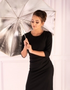 Czarna ołówkowa sukienka M L XL XXL 3XL 44 46...