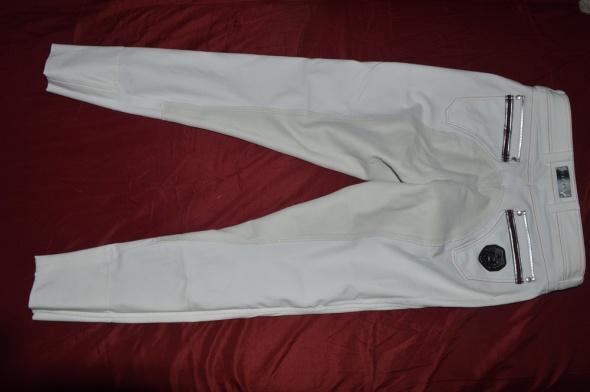 Bryczesy konkursowe białe pełny lej Cavallo M rozmiar USA 28