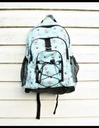 Niebieski plecak w pieski