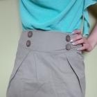 Spódniczka khaki z kieszonkami