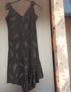 sukienka asymetryczna wieczorowa