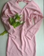Nowa pudrowa sukienka z wiązaniem S M L...