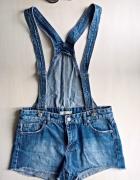 Jeansowe spodenki ogrodniczki Pull&Bear XS S M...