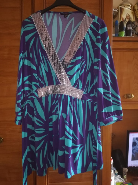 Bluzki SimplyBe przepiękna bluzka dla puszystej 44 46