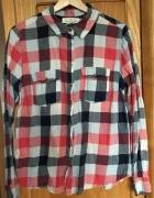 Koszula LOGG H&M 40 L krata w kratę kolorową klasyczna na guzik...