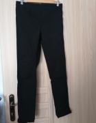Spodnie H&M czarne rurki obcisłe tregginsy na gumce...