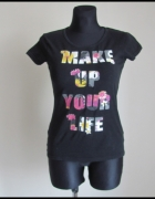 bluzka z napisem MAKE UP YOUR LIFE rozmiar 38 CARRY...