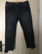 Szare spodnie H&M 40 L elastyczne proste jeansy Straight Ankle ...