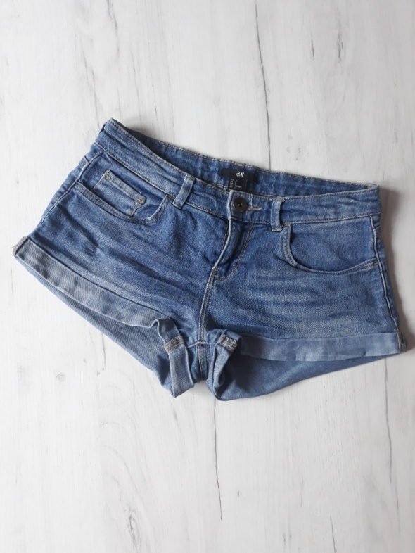 Jeansowe szorty h&m...