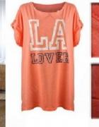 Bluzka TUNIKA BY H&M MOTYW LA LOVER ROZM S...