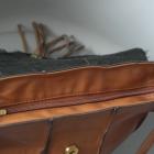 Mohito listonoszka worek brązowa futerko zapinana na magnes i zamek