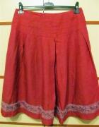 spódnica kolor buraczkowy L cekiny...