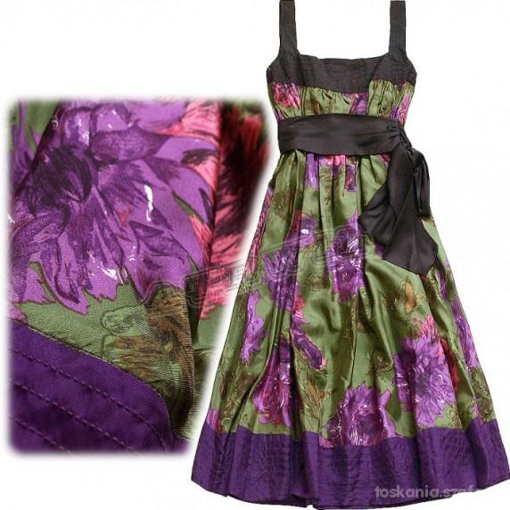 Suknie i sukienki SUKIENKA NA WESELE JEDWAB