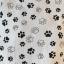 biało czarny tshirt w psie łapki Reserved XS S nowa z metką