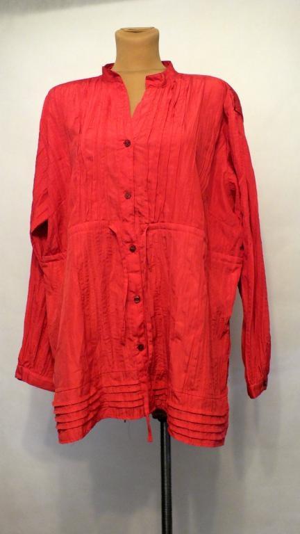 Malinowa bluzka Plus Size Rozmiar 56