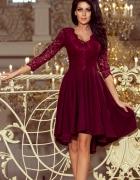 sukienka Nicolle koronka bordowa...