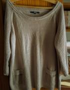 Bawełniany beżowy sweterek...