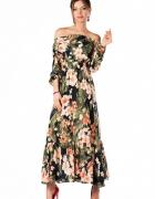 Sukienka boho w piękny kwiatowy wzór 2XL 44...
