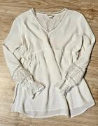 Biała z koronką H&M ciążowa