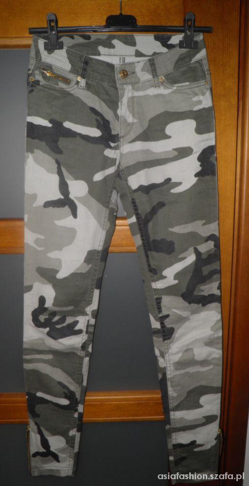 spodnie cubus moro rurki skinny 34 xs