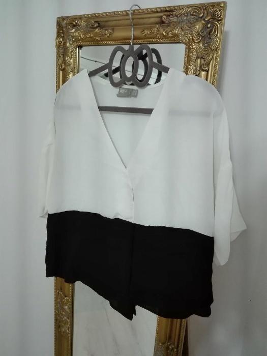 Bluzki Czarno biała koszula bluzka ASOS 38 M