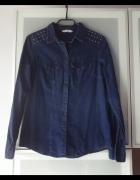 Jeansowa koszula ćwieki rozmiar S...
