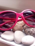 Różowe okulary róż neon pink lenonki aviatorki...