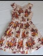 Sukienka jedwab super stan z podszewka Pepperberry XL...