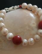 bransoletka perły korale...