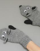 Rękawiczki liski z polarem...