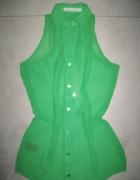 NEXT zielona damska bluzka mgiełka roz 34...