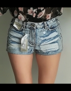 Denim Co jeansowe spodenki strzępienia M