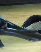 Czarne lakierki buty na studniówkę wesele...