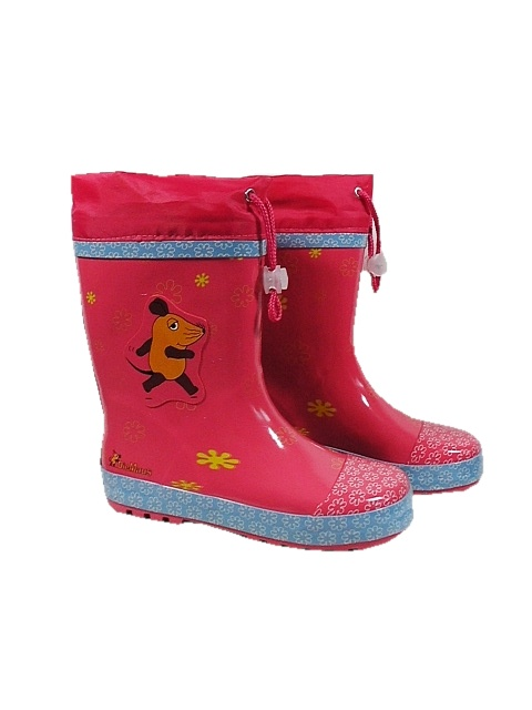 Playshoes kalosze dziewczece ze ściągaczem różowe rozm 30 do 31 dł wkł 20 cm