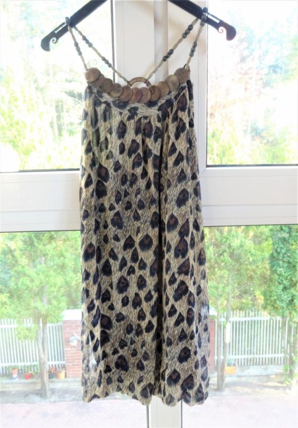 Sukienka s 36 pawie oko drewniane koraliki
