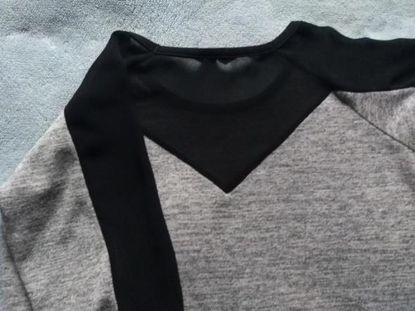 Bluzka sweterek dzianina z siatką rozm S...