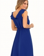 sukienka z falbanką kolor kiwi S M L XL CHABER FUKSJA...