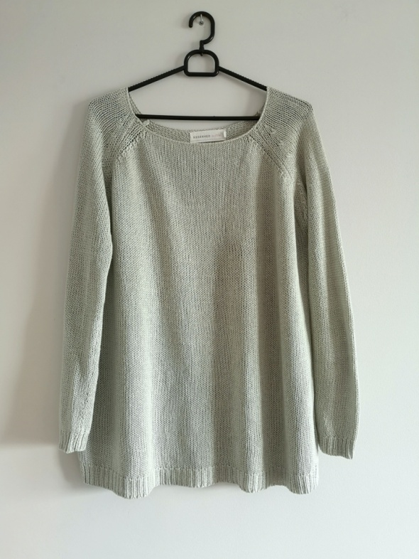 siwy sweter S M L szary boho oversize casual nude