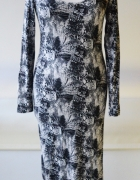 Sukienka H&M S 36 Skóra Węża Long Maxi Długa...