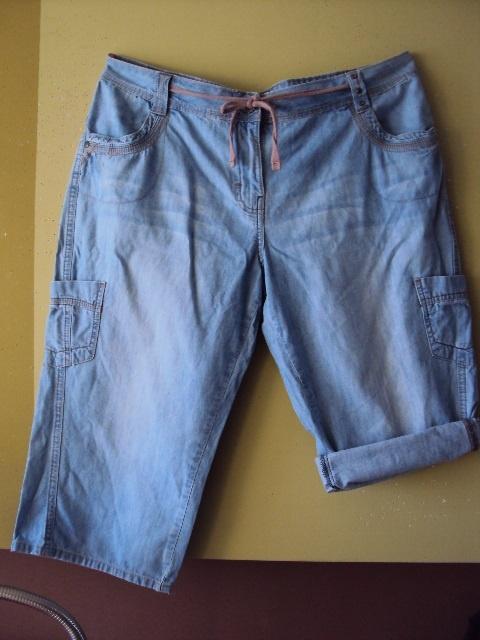 jeansowe spodenki rybaczki...