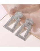Kolczyki kwadratowe srebrne...