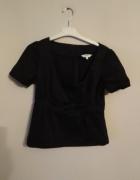 Lime 40 l czarna bluzka elegancka kokarda wizytowa bawełna...
