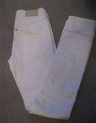 spodnie jeans rurki H&M 26 białe