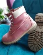 Timberland skorzane buty trapery rozowe...