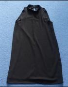 Sukienka tunika Amisu new yorker 36 stójka czarna sylwester...