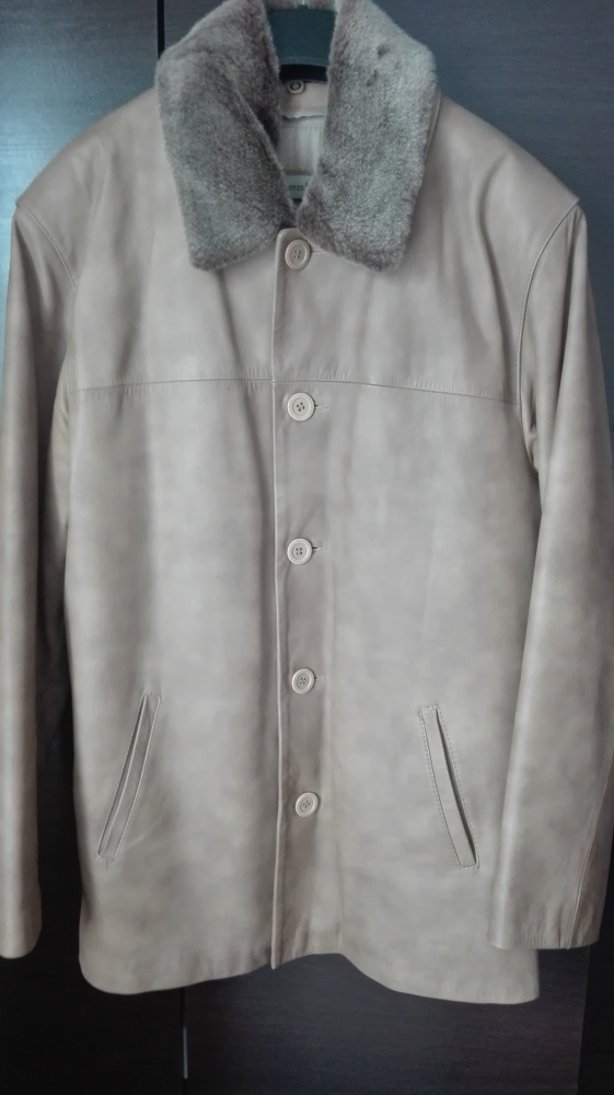Kurtki i płaszcze Duża kurtka męska ze skóry