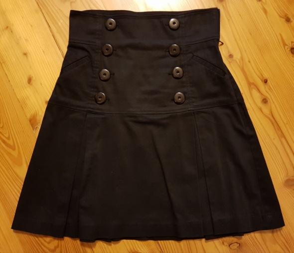 Spódnice Spódnica elegancka wysoki stan rozkloszowana guziki S 36