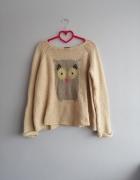 Sweter z sową TopShop M...