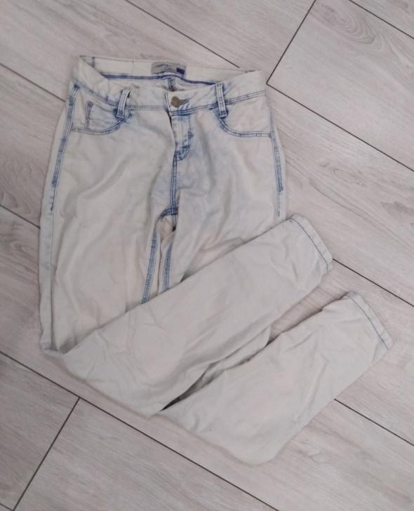 Spodnie jasne rurki delikatne marmurki 36 c&a